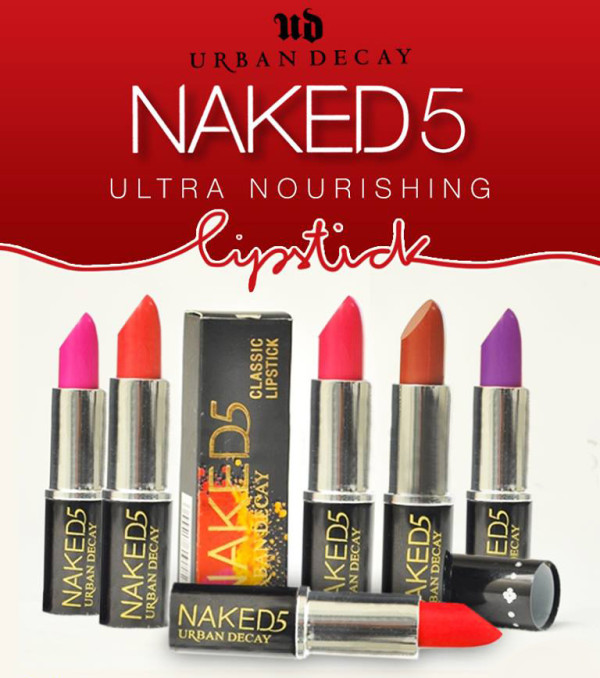 Pack of 6 Urban Decay Naked 5 Lipsticks (1)