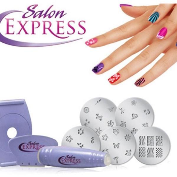 SALON EXPRESS – NAIL ART STAMPING KIT - GetIt.pk