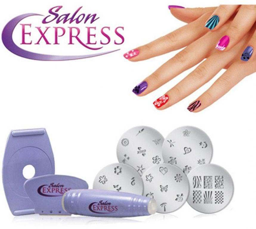 Salon Express Nail Art Stamping Kit Getit