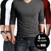 Pack-of-4-v-neck-full-aleeves-tshirts