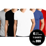 Pack-of-4-v-neck-halfsleeve-tshirts