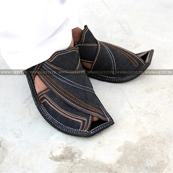 CS-114-pesahwari-sandal-chappal-kheri-pure-leather-chamra-denim-hand-made-norozi-saplae-getit (1)