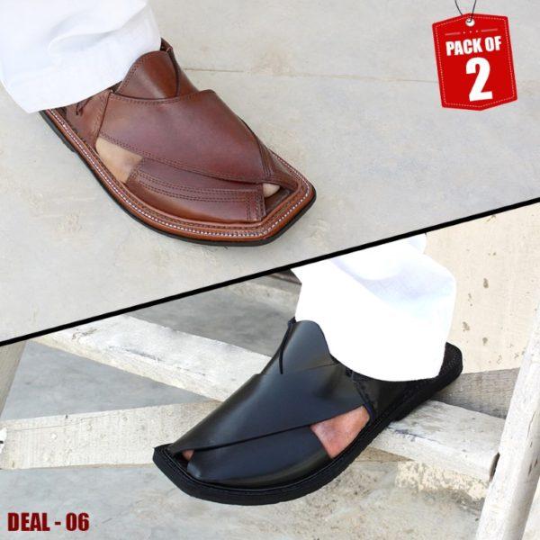 DEAL-06-peshawari-sandal-charsadda-chappal-kheri-deal-buy-1-get-1-free-pure leather-getitpk