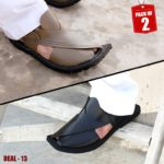 DEAL-13-peshawari-sandal-charsadda-chappal-kheri-deal-buy-1-get-1-free-pure leather-getitpk